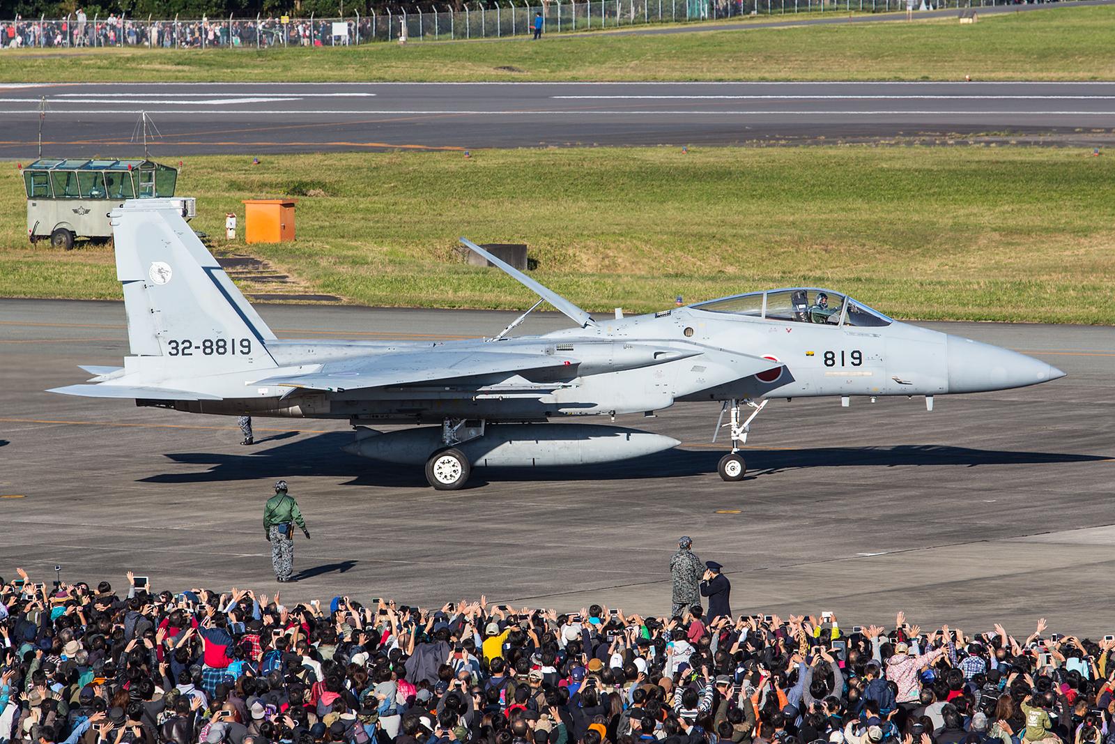 """F-15J der """"Dragons"""" macht sich auf den Heimweg nach Komatsu."""