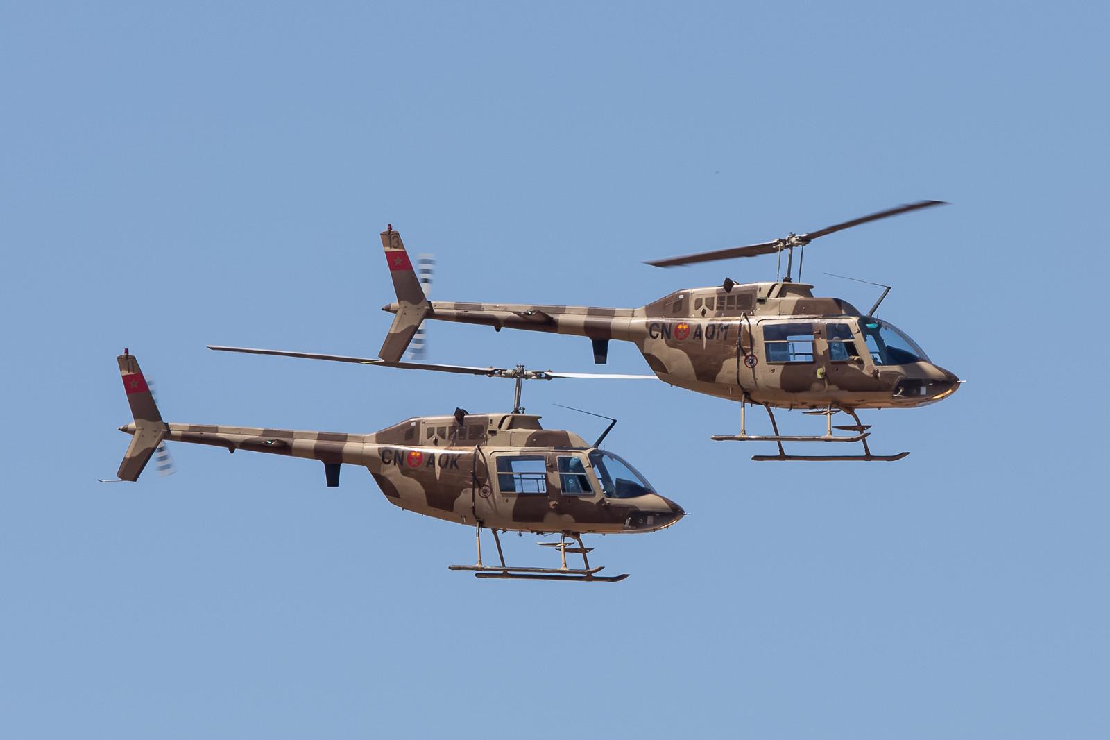 Diese beiden Jet Ranger gehören zur EH 1 in Rabat.