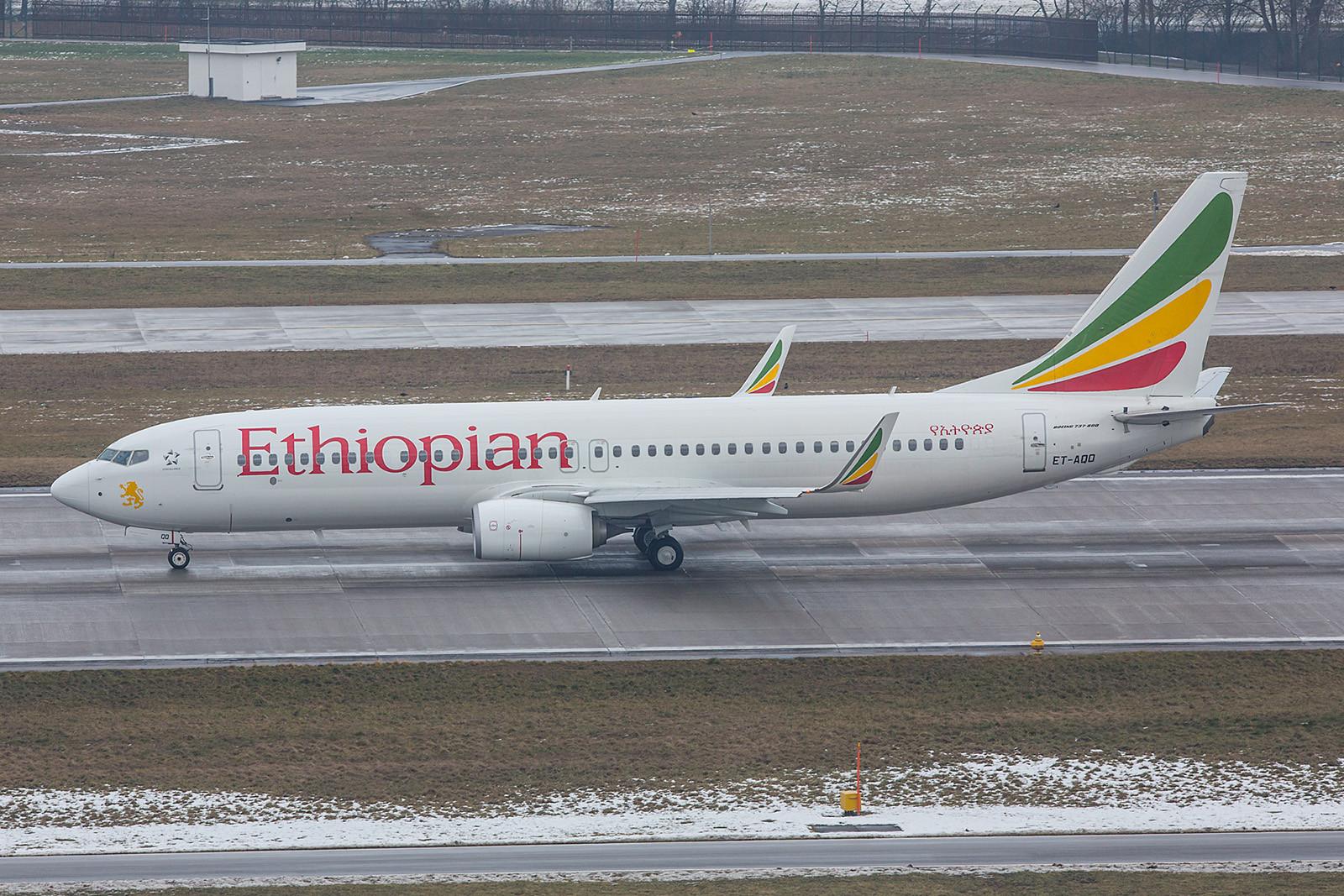 Die Delegation aus Äthiopian nutzte eine Boeing 737-860W der Ethiopian Airlines.