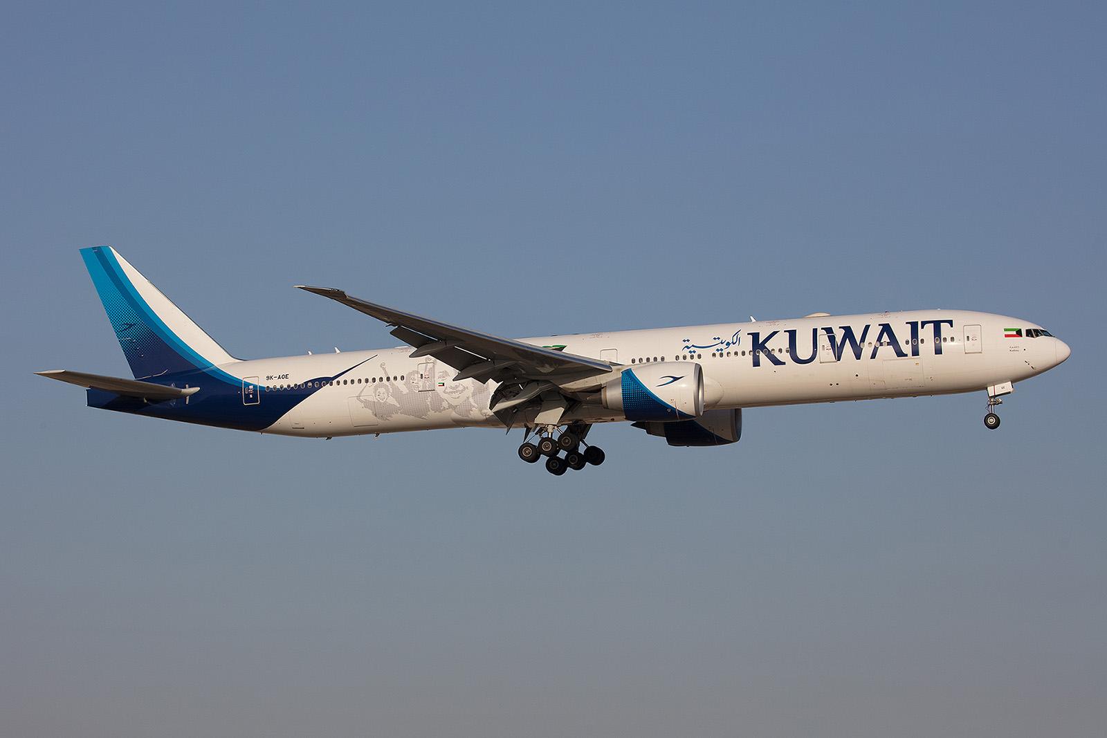 Boeing 777-300ER der heimeischen Kuwait Airways.