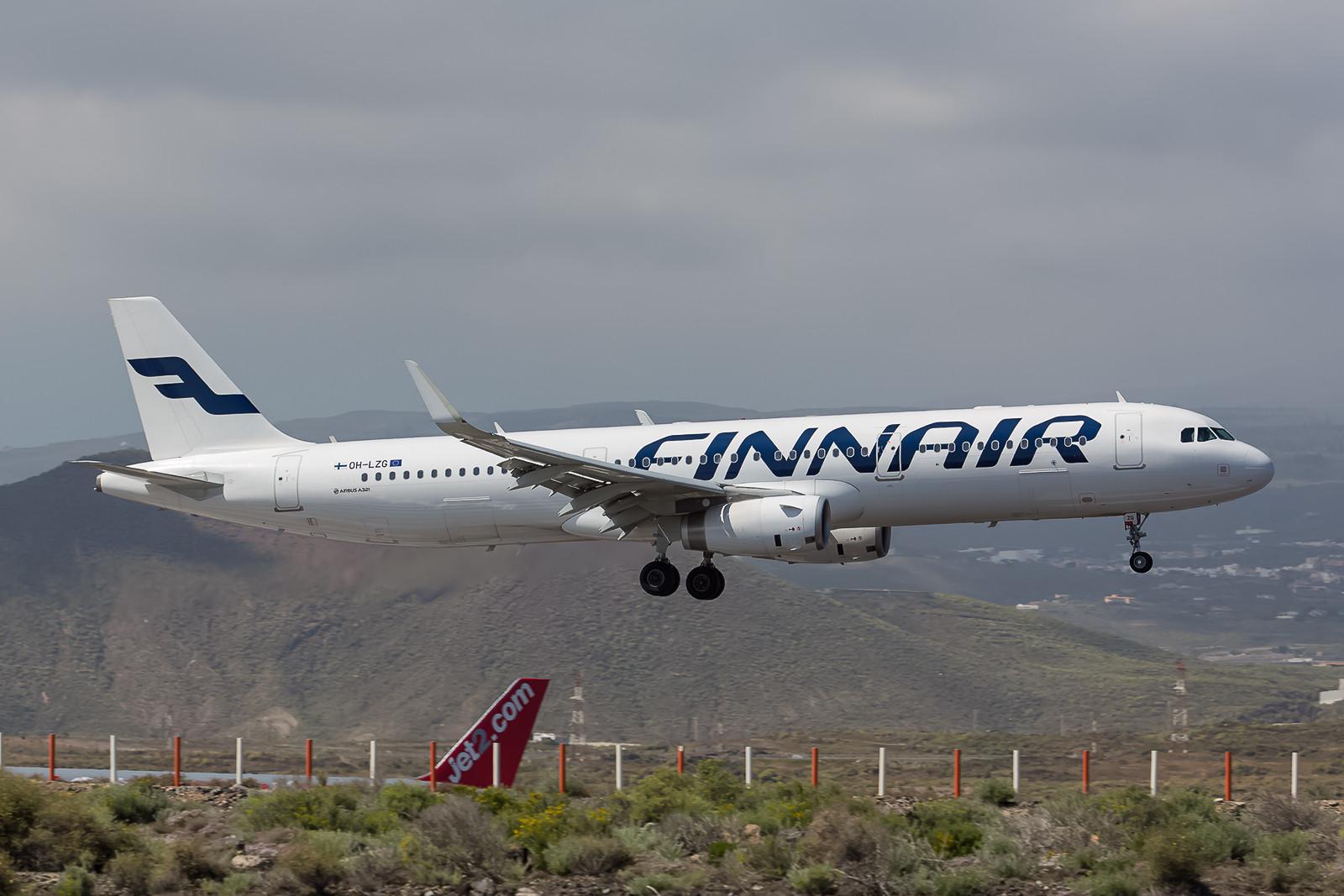 Finnair Airbus 321-231, OH-LZG mit den neuen Sharklets.