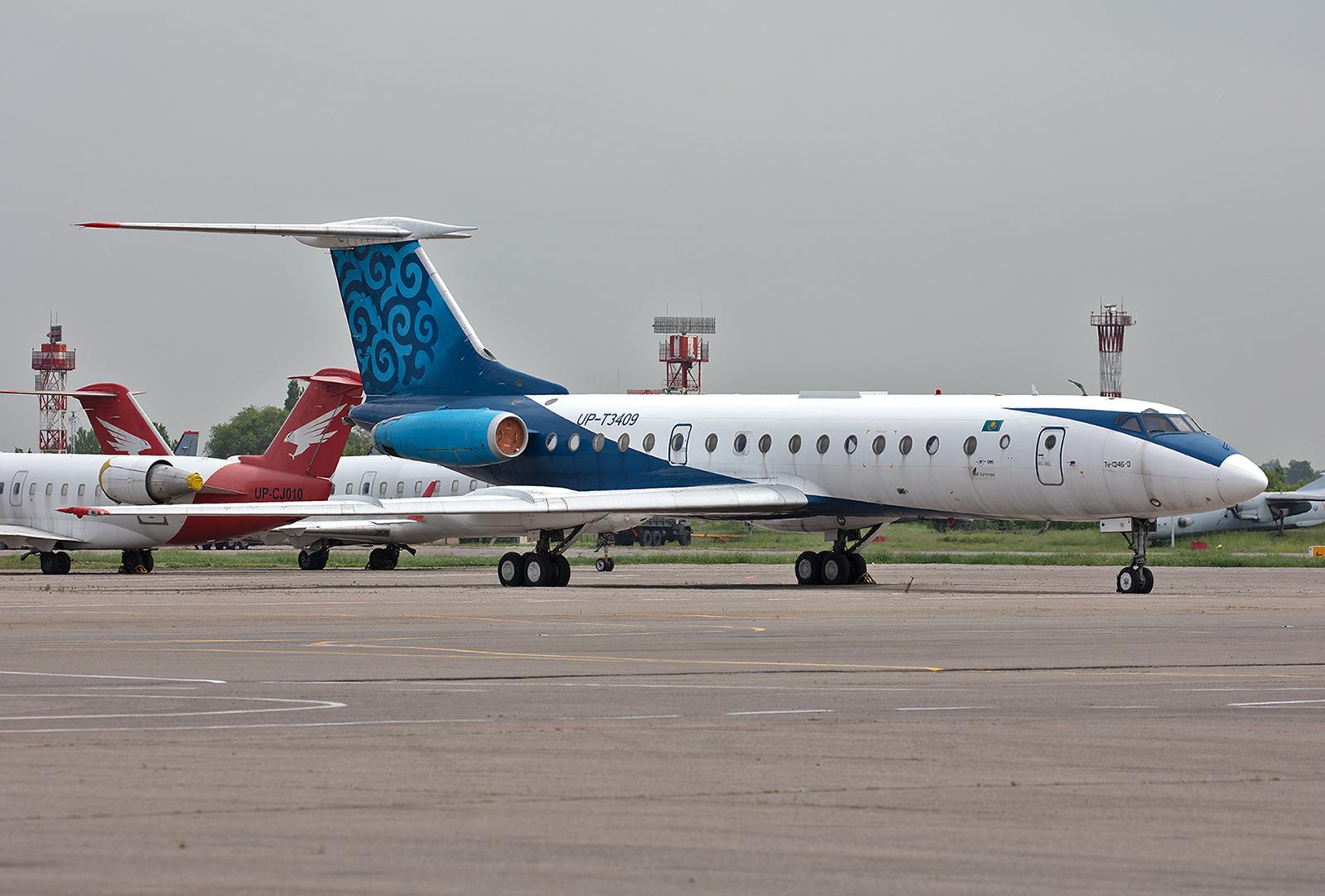 Diese Tupolev Tu-134 der Euto-Asia Air steht zum Verkauf.