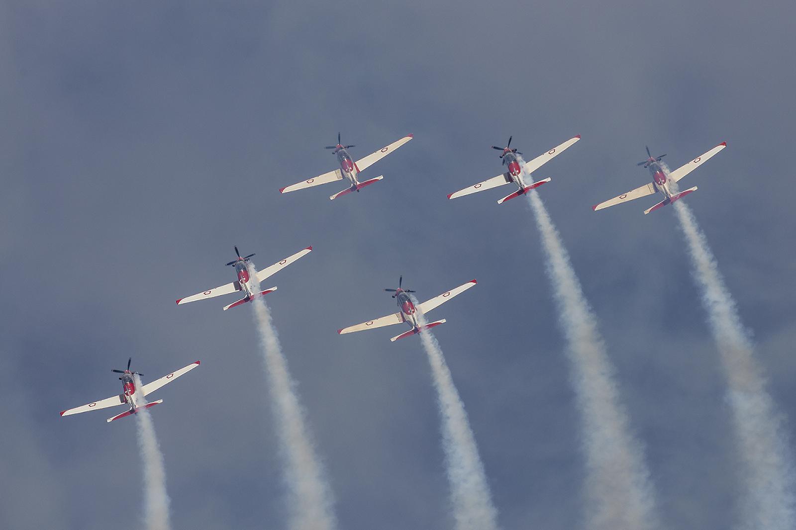 Ein häufiger Gast ist das Displayteam der indonesichen Luftwaffe.