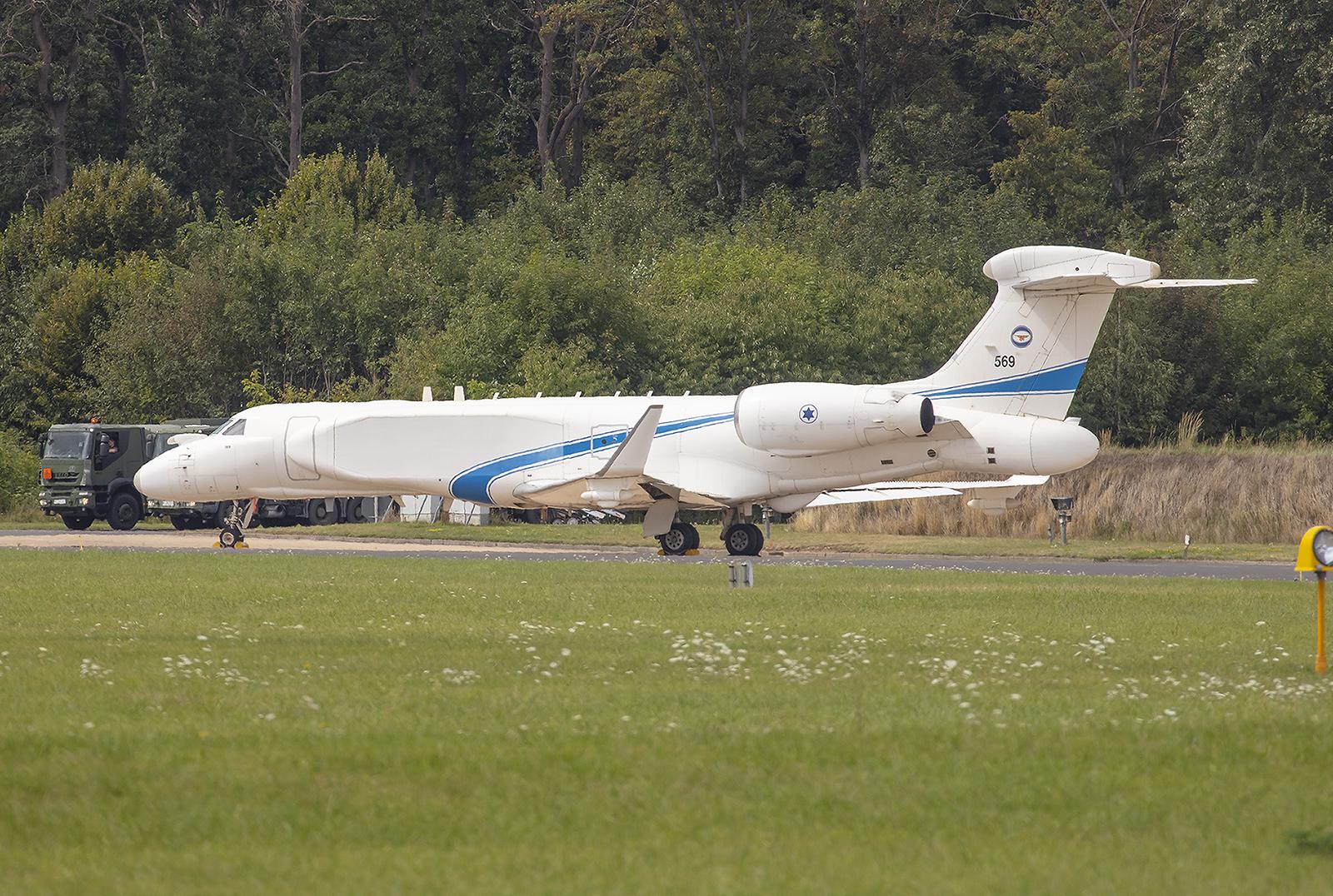 Die Gulfstream gehören zur 122 Squadron in Nevatim, außer Israel besitzen derzeit nur Singapur und Italien diesen Typ.