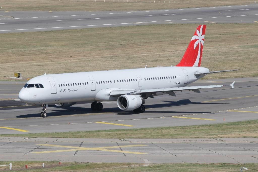 Airbus der Air Mediterranee in neuen Farben.