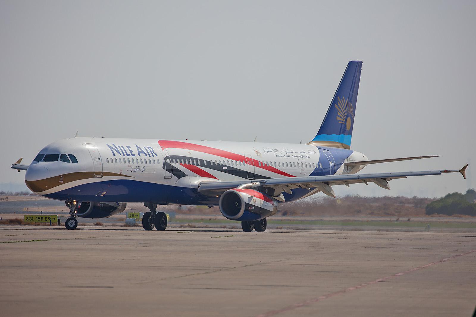 Ebenfalls aus Ägypten kam dieser A321 der Nile Air,....