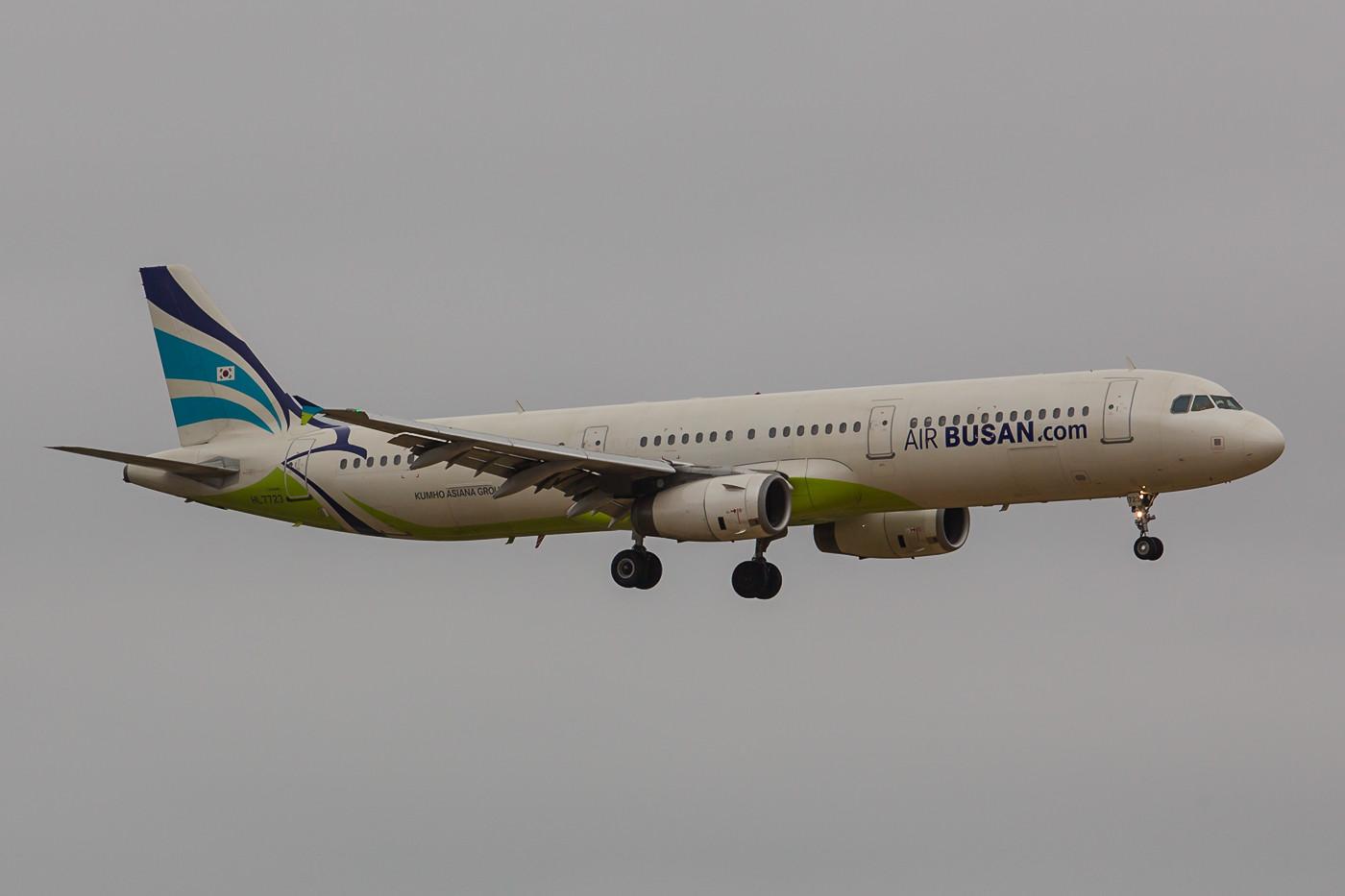 A 321 der Air Busan, die zur Asiana Group gehört.