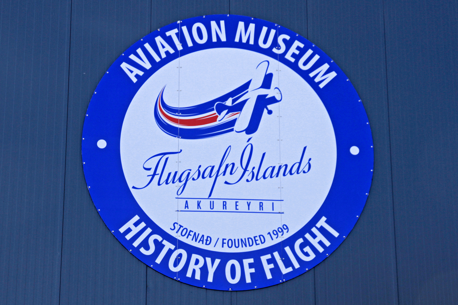 Logo des Flugsafn Islands - Aviation Museum Akureyri, AEY, 14. August 2020