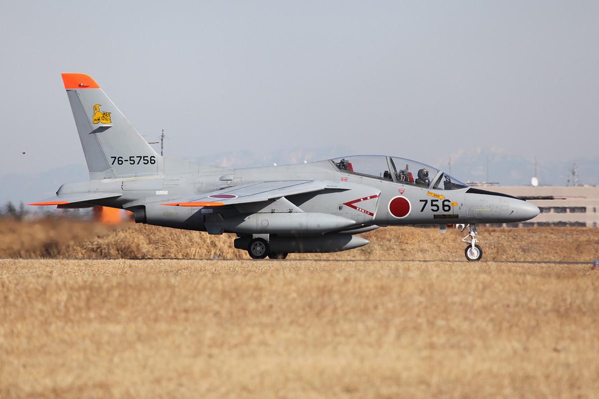 Weit weg von zuhause war die T-4 aus Naha auf Okinawa.