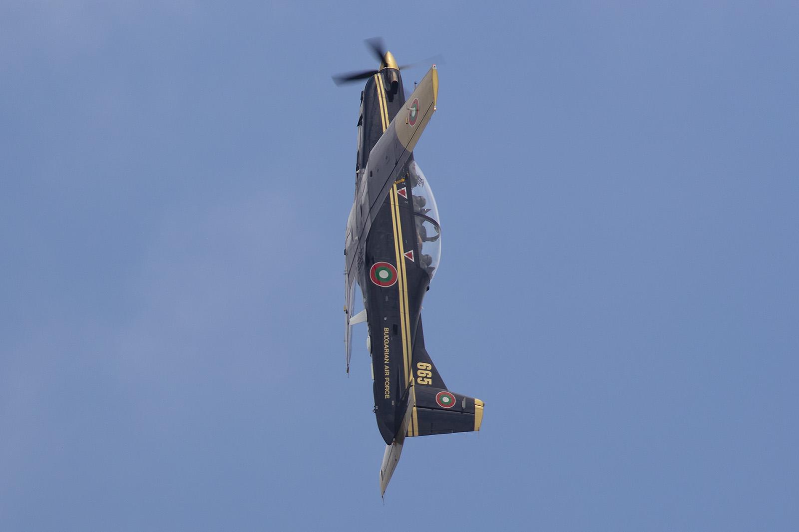 Pilatus PC-9 für die fliegerische Basisausbildung.