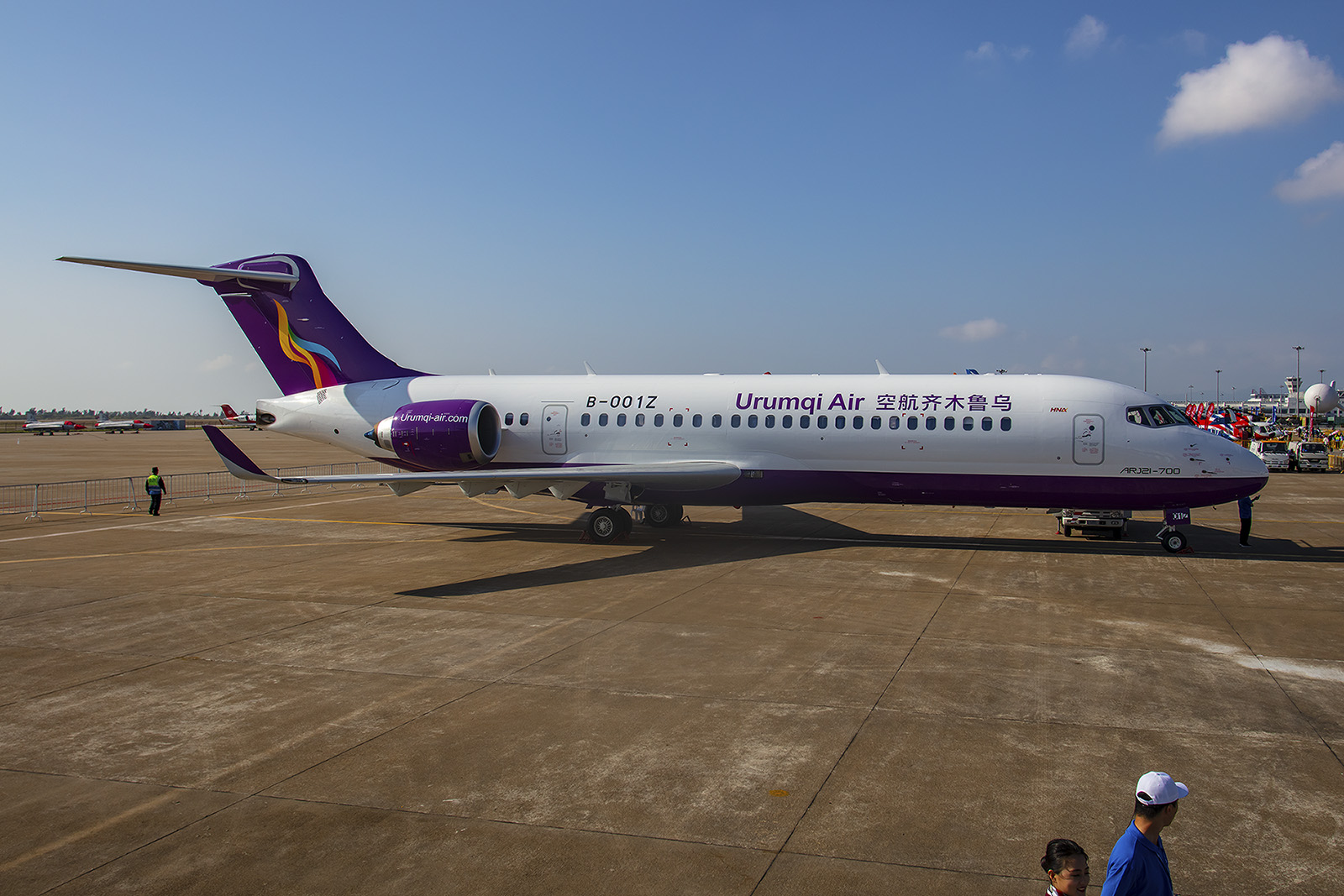 Nochmal Urumqi Air ohne störende Bodengeräte und.....
