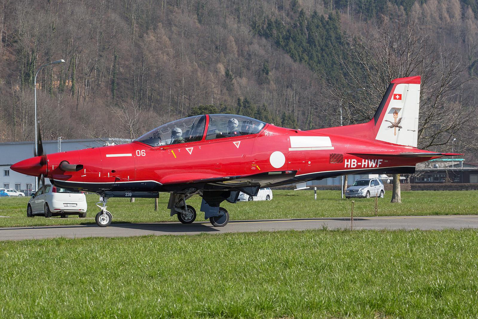 PC-21 Nummer 06 für die Royal Australian Air Force nach einem Einweisungsflug für die zukünftigen Besatzungen.