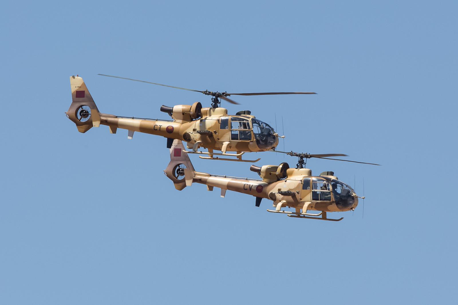 Auch die SA-342L Gazelle sind in Rabat stationiert.