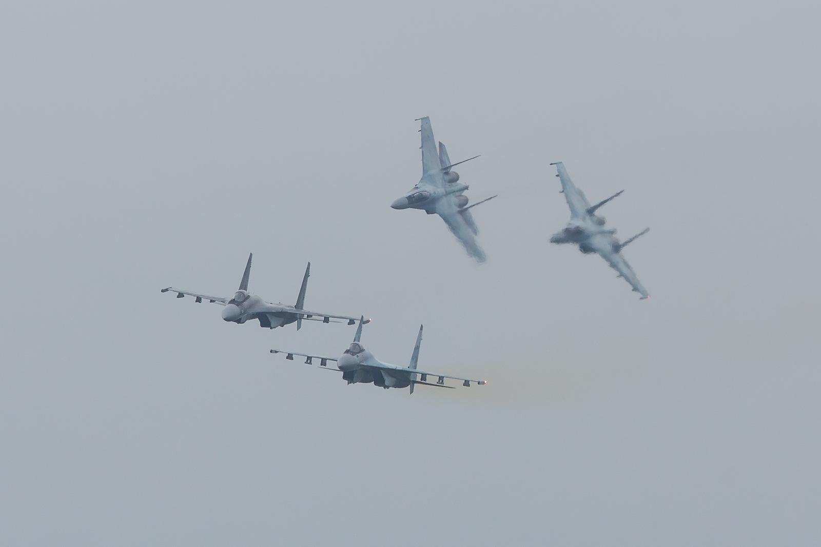 Im simulierten Luftkampf.