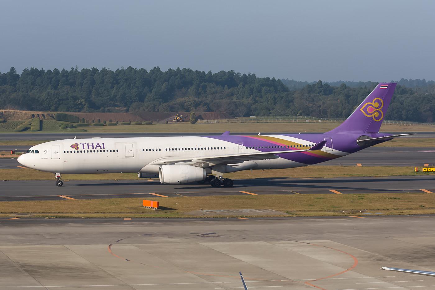 In den letzten Tagen des Sommerflugplan kam Thai Airways noch mit A 330.