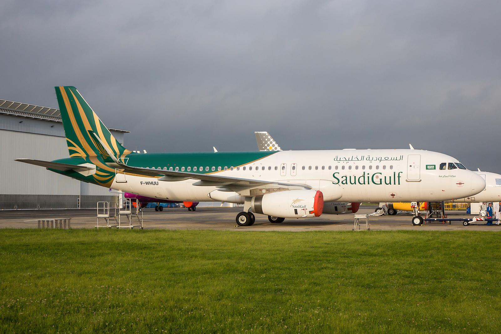 Für mich das Highlight, die F-WHUU für Saudi Gulf. Die Airline bedient nur Inlandsstrecken im Königreich.