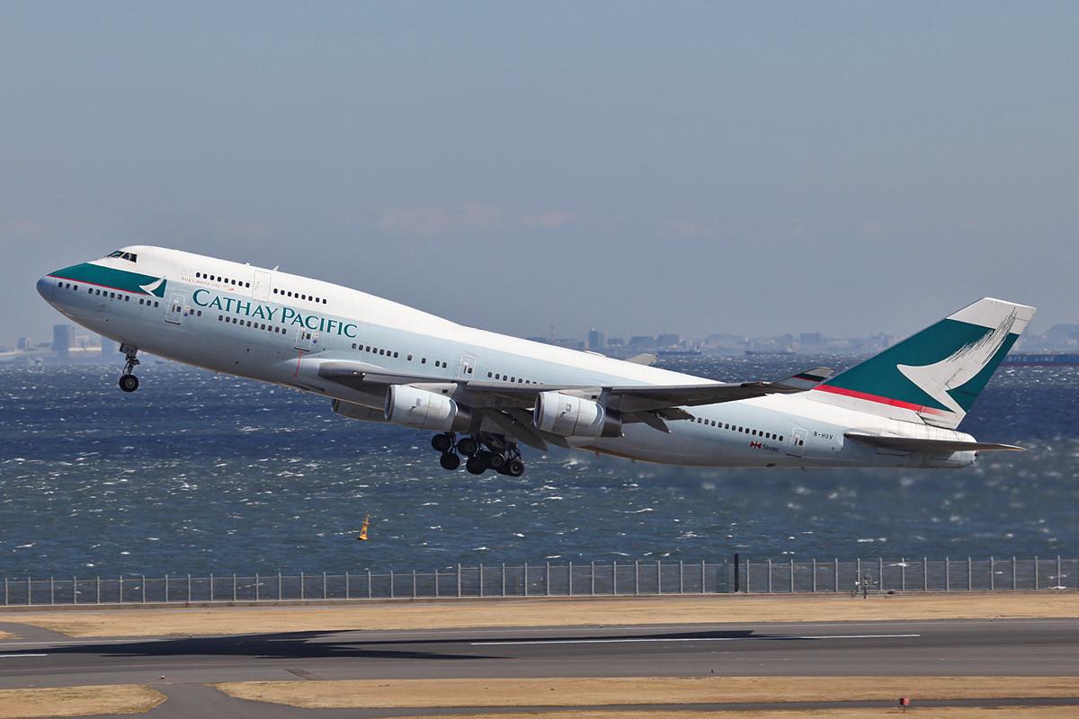 Bei Cathay Pacific reicht ´s täglich für die Boeing 747