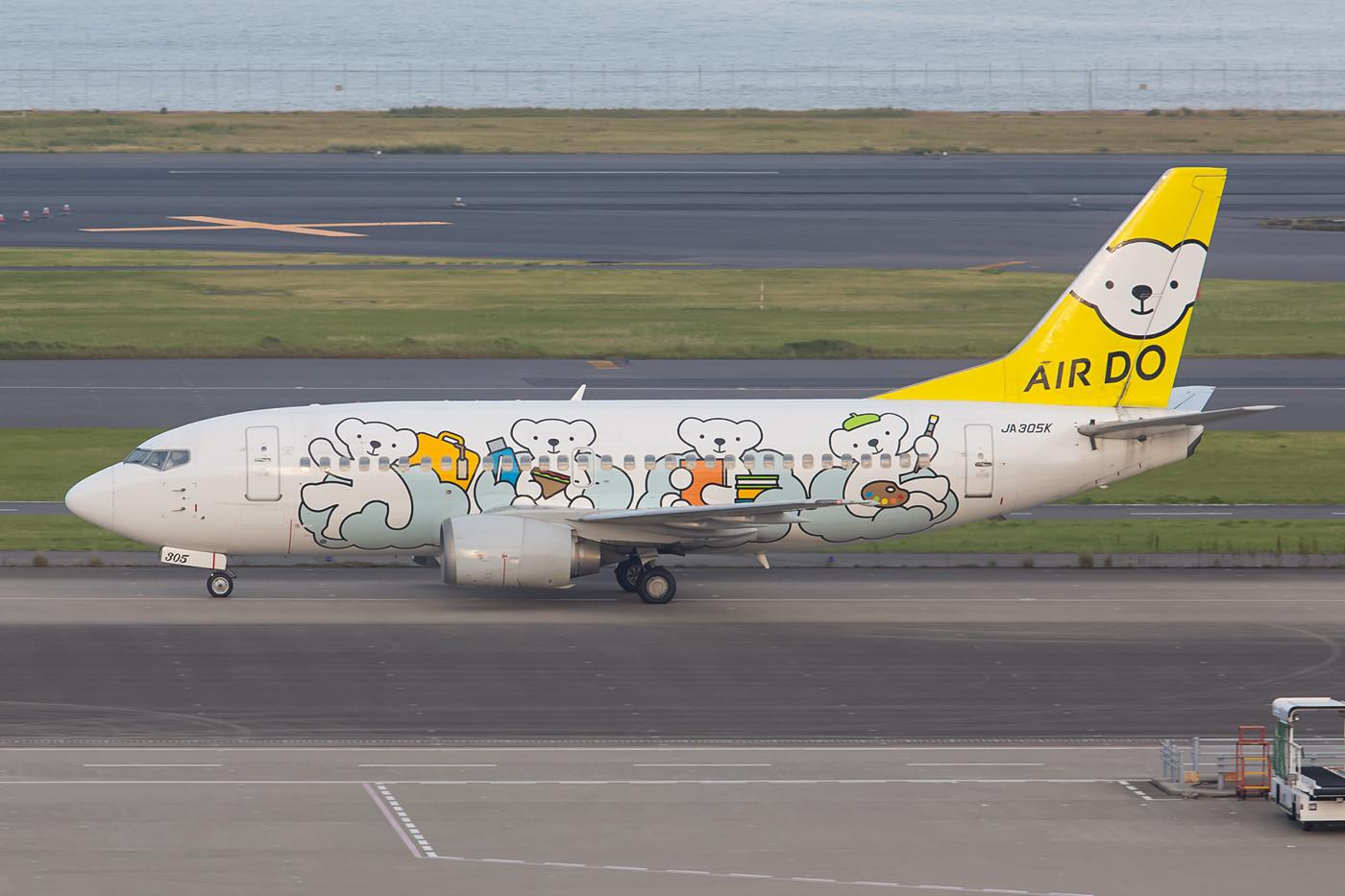 Ja305K, Boeing 737-500 der Air Do aus Hokkaido.