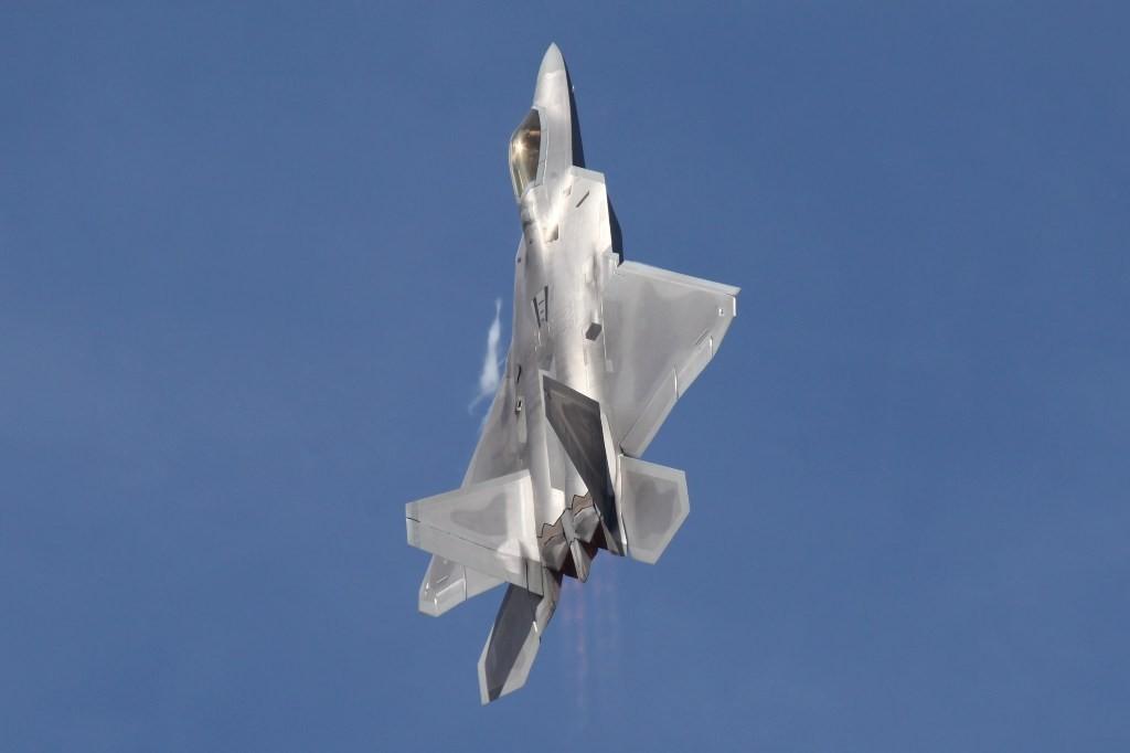 Vorführung des F-22 Raptor Demoteams aus Alaska
