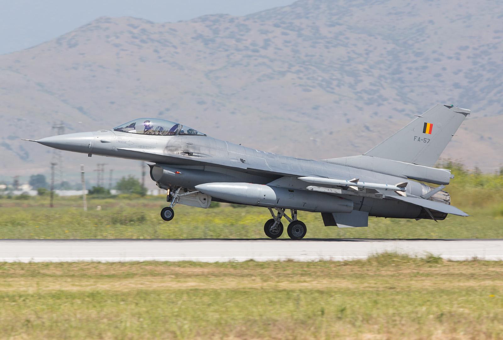 Einziger internationaler Gast war diese F-16 aus Kleine Brogel.