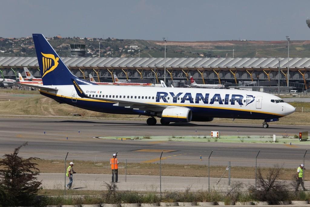 Auch Ryanair ist in Barajas stark vertreten.