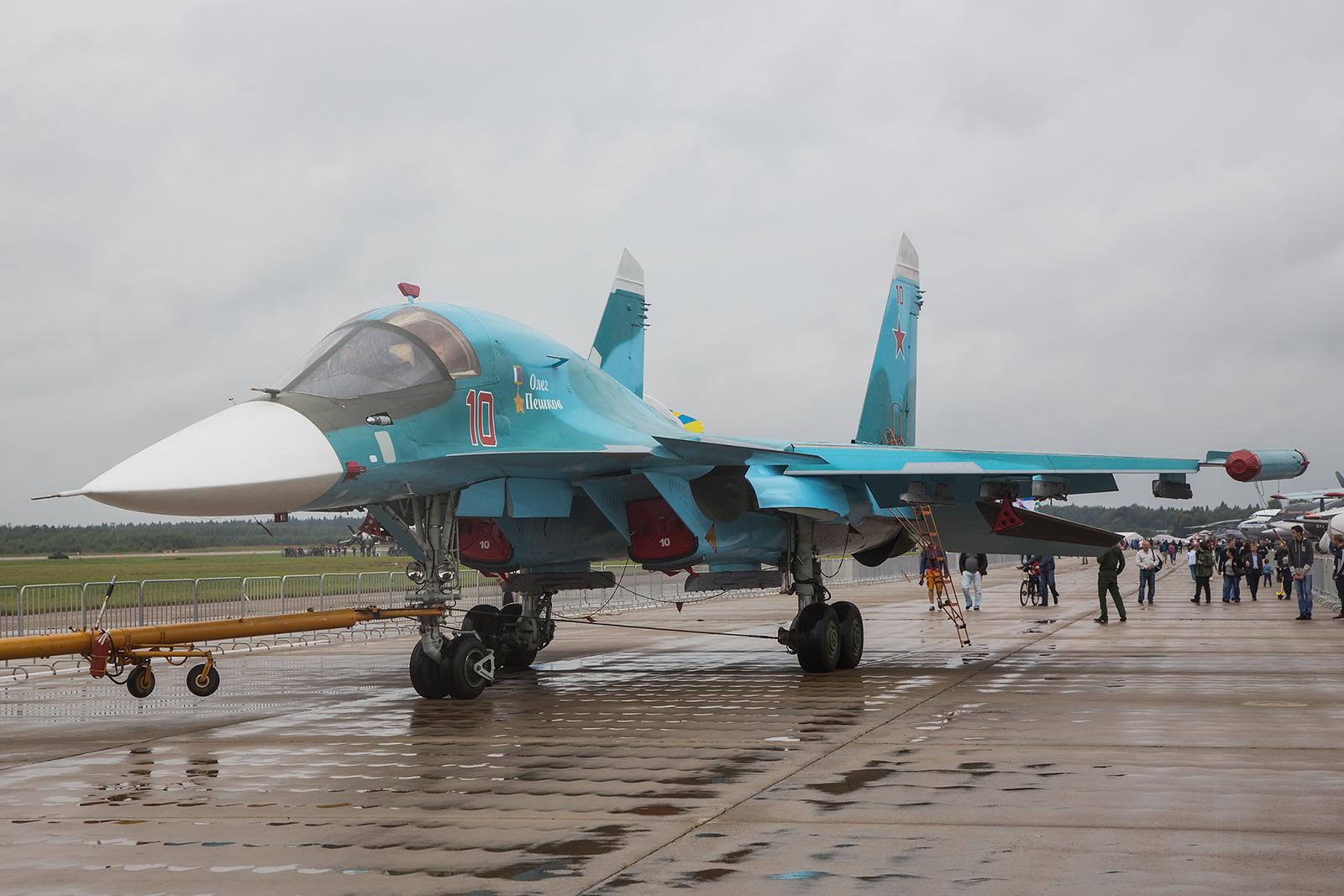 Für mich eines der schönsten Flugzeuge auf der Show, die Sukhoi Su-34.