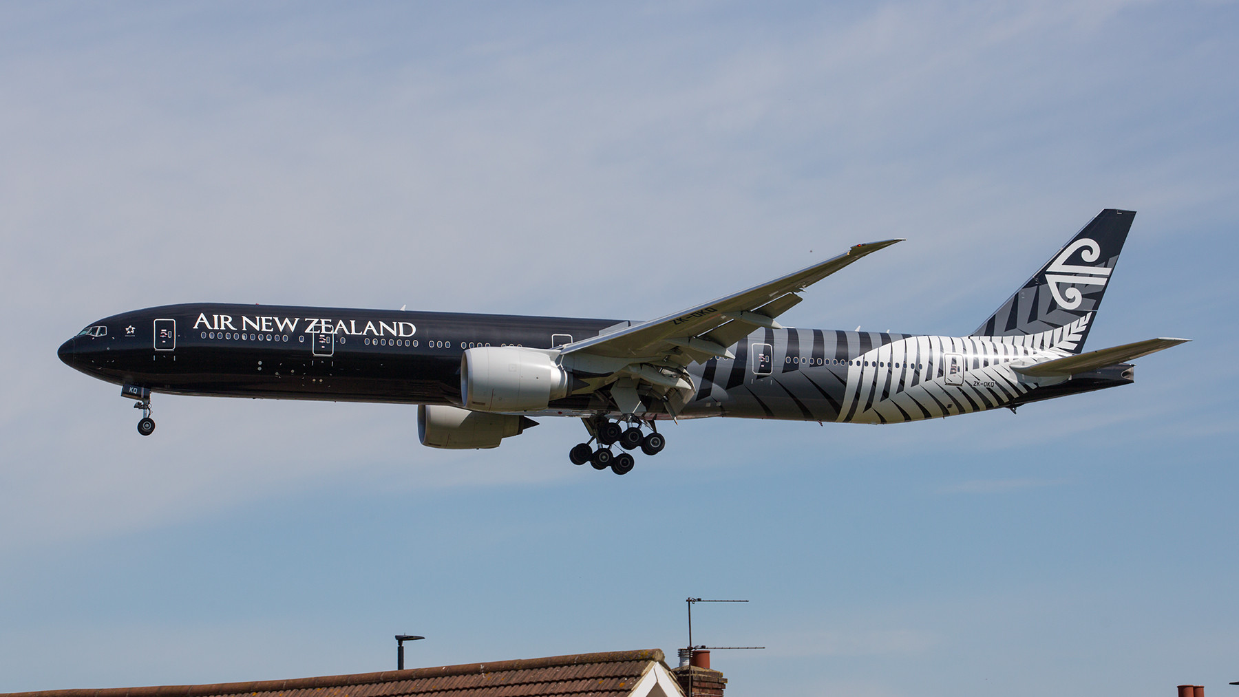 "Die ""All Black"" der Air New Zealand."