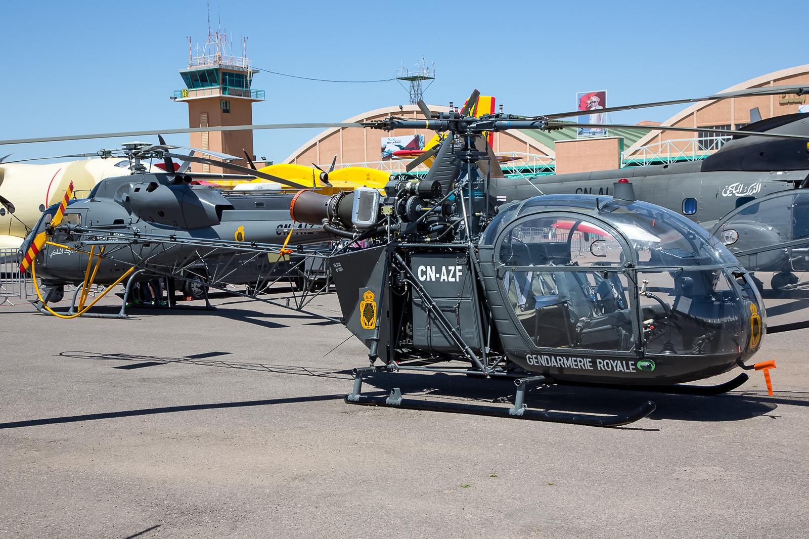 Ein echter Klassiker sind die Alouette II der Gendarmerie Royale