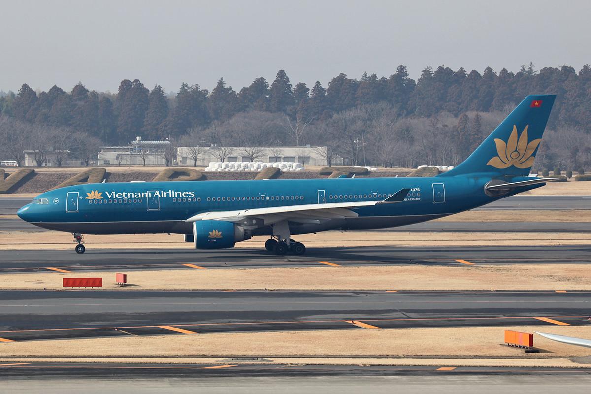 A 330 von Vietnam Airlines, sie kommen täglich aus Hanoi und Ho-Chi-Minh-Stadt.