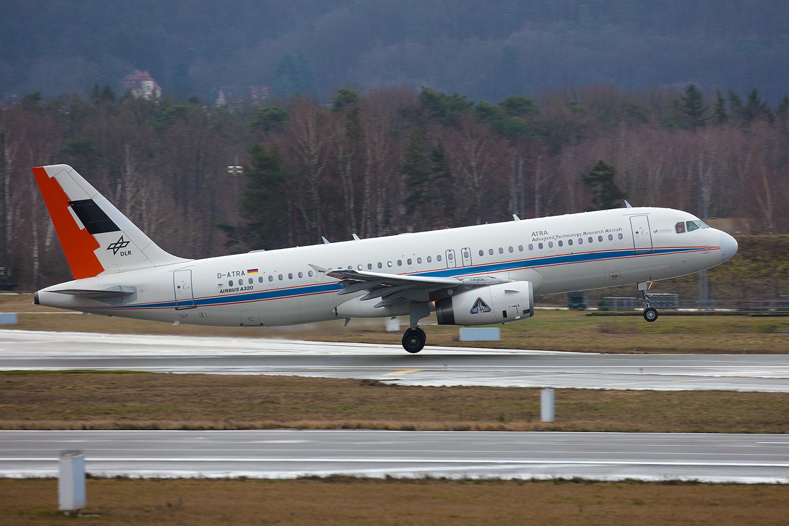Der A320 des DLR startet zum vierten gemeinsamen Forschungsflug.