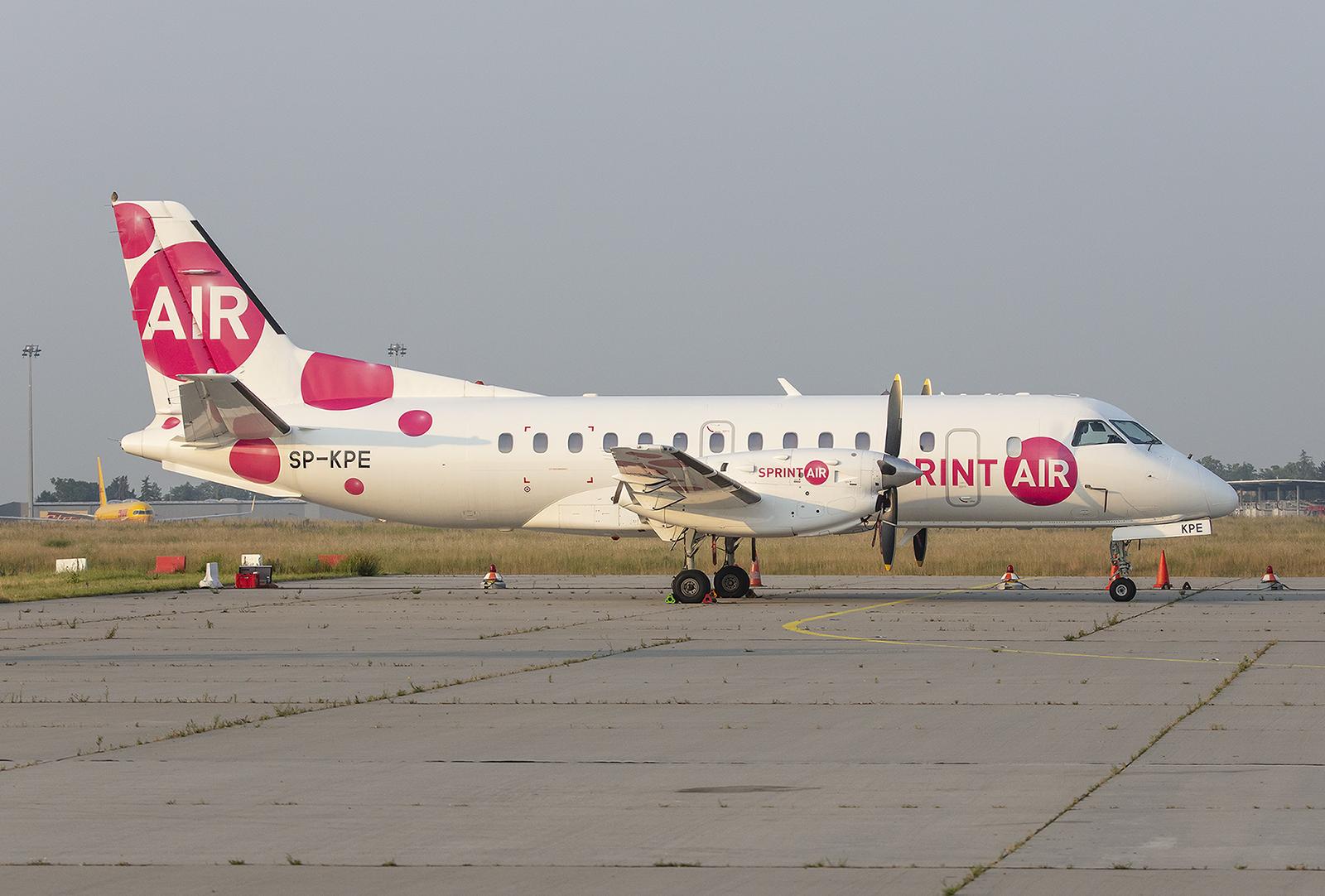 Die Sprint Air aus Polen betreibt einige kleine Propellerflugzeuge als Frachter.