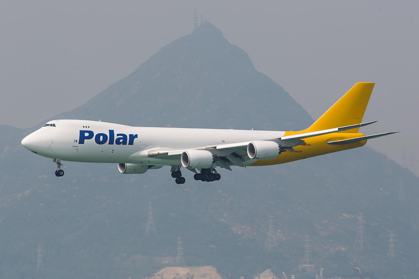 Mittlerweile vier Boeing 747-8UF betreibt Polar Air Cargo. Man ist u.a. damit auch für den DHL unterwegs.