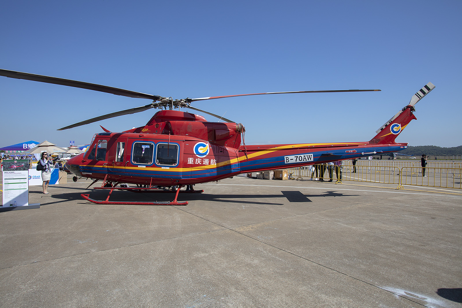 Der Bell 412 ist unverwüstlich, ......