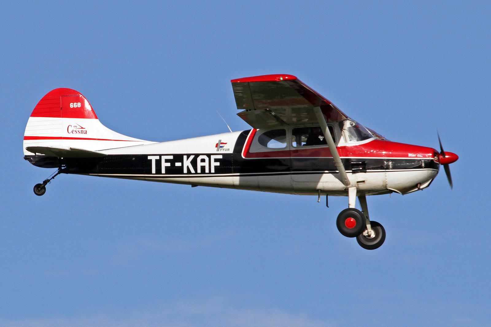 Þytur ehf. Cessna 170 TF-KAF, RKV, 14. August 2020