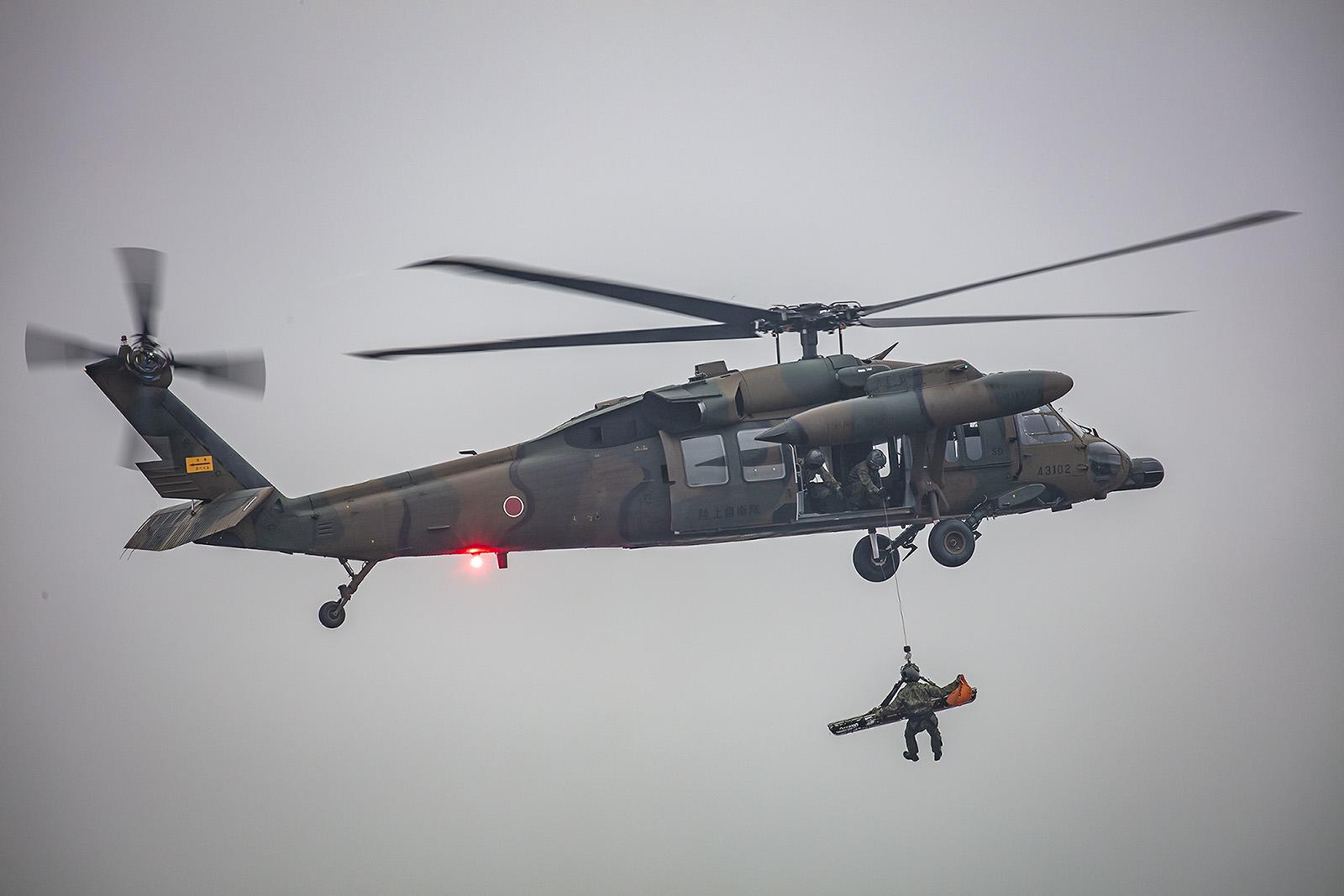 Der Blackhawk wird in Japan als mittlerer Transporthunschrauber und von alle drei Teilstreitkräften als Rettungshubschrauber verwendet.