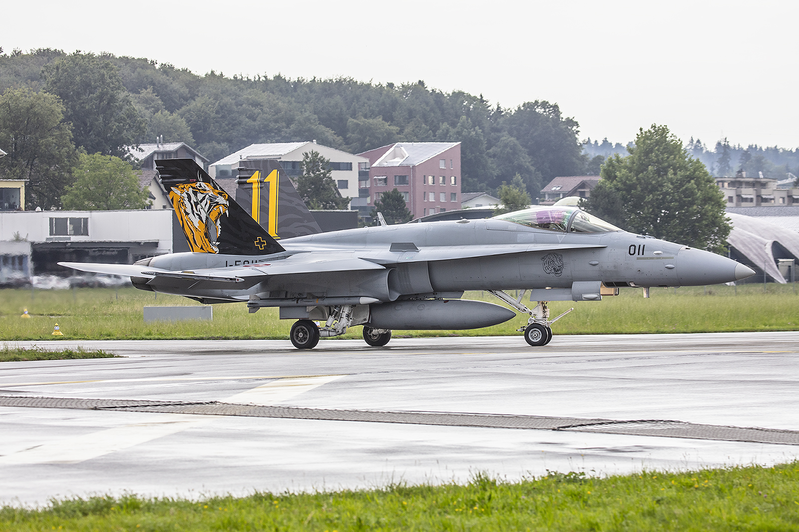 Die J-5011 der Tigerstaffel aus Meiringen.