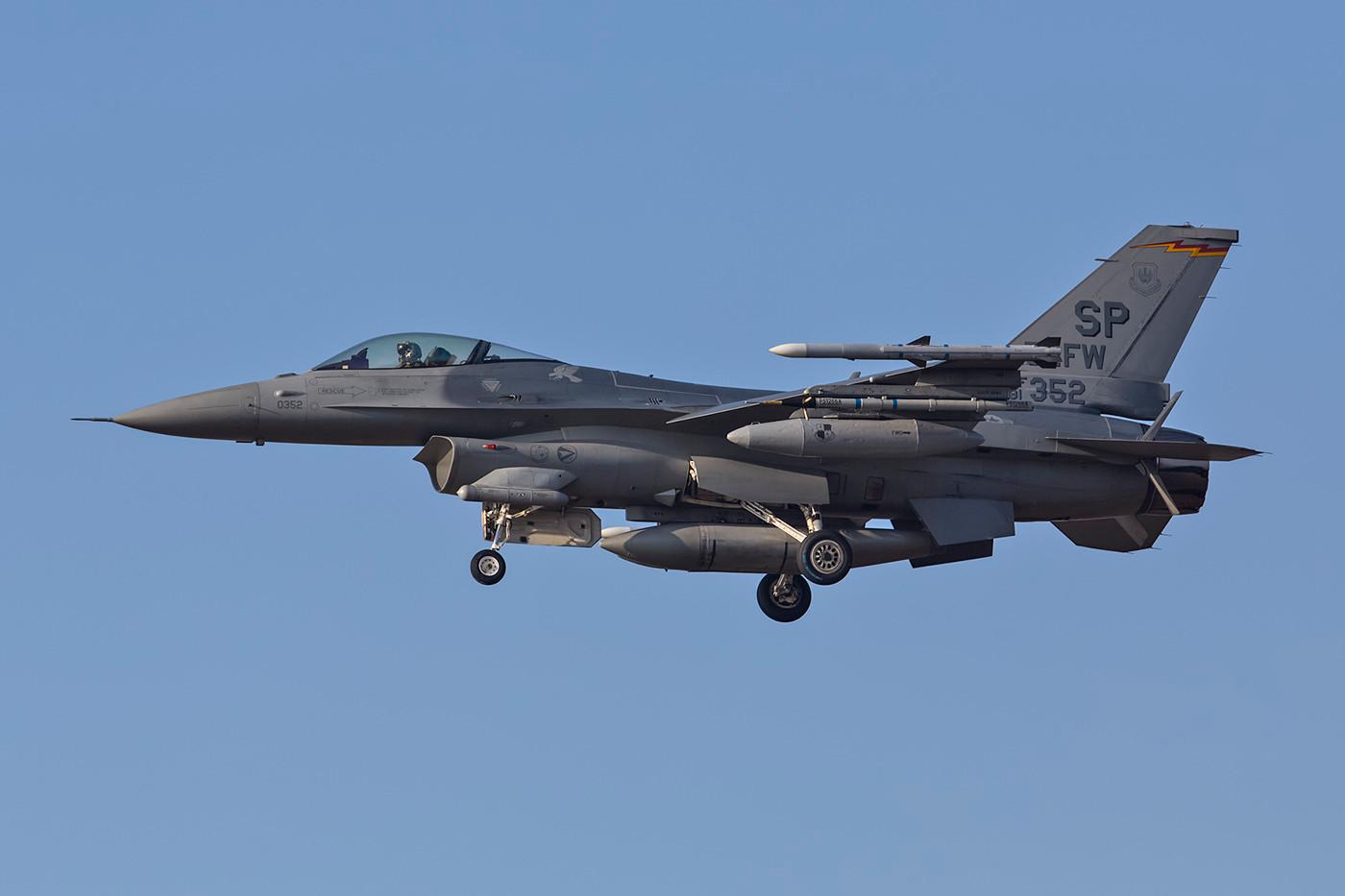 SPM 13.02.2015; 91-0352, F-16C, 52nd FW Spangdahlem (Deutschland)