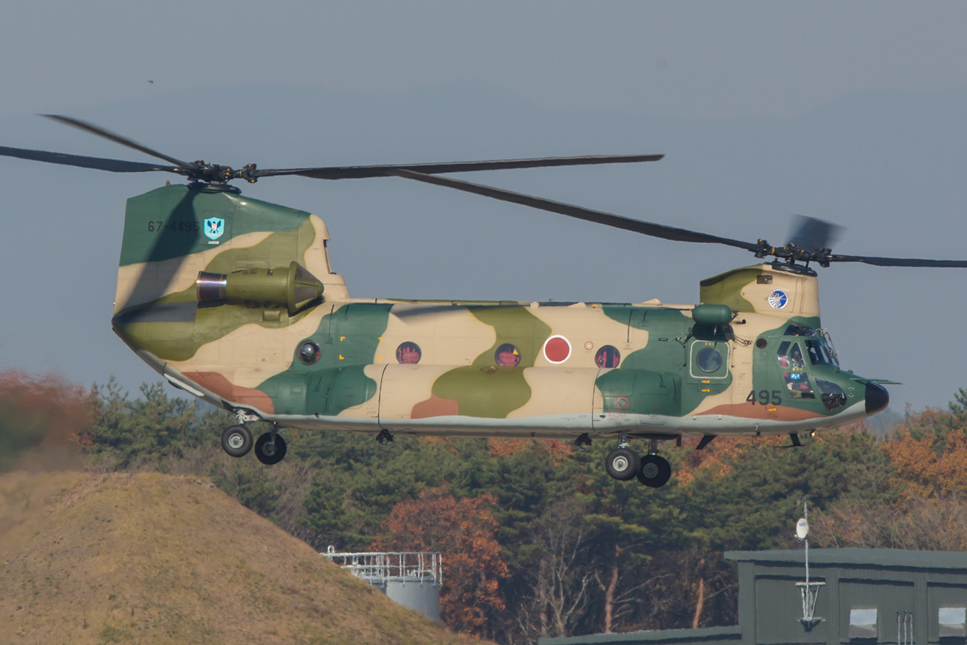 Eine der lokalen CH-47 startet.