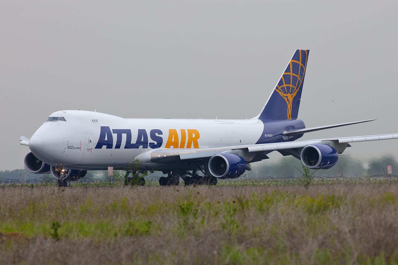 Noch ein Jumbofrachter, hier die N855GT der Polar Air Cargo opf. Atlas Air.