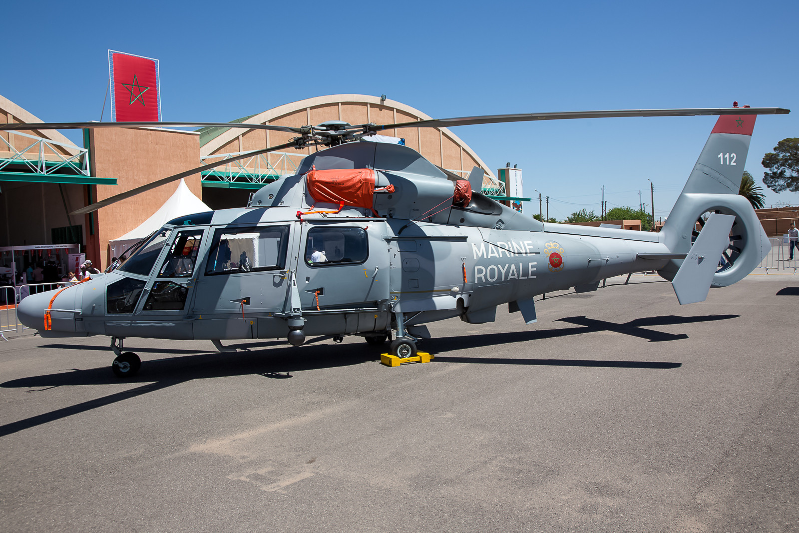 Die kleine Einheit der Marineflieger betreibt die AS-565MB Panther.