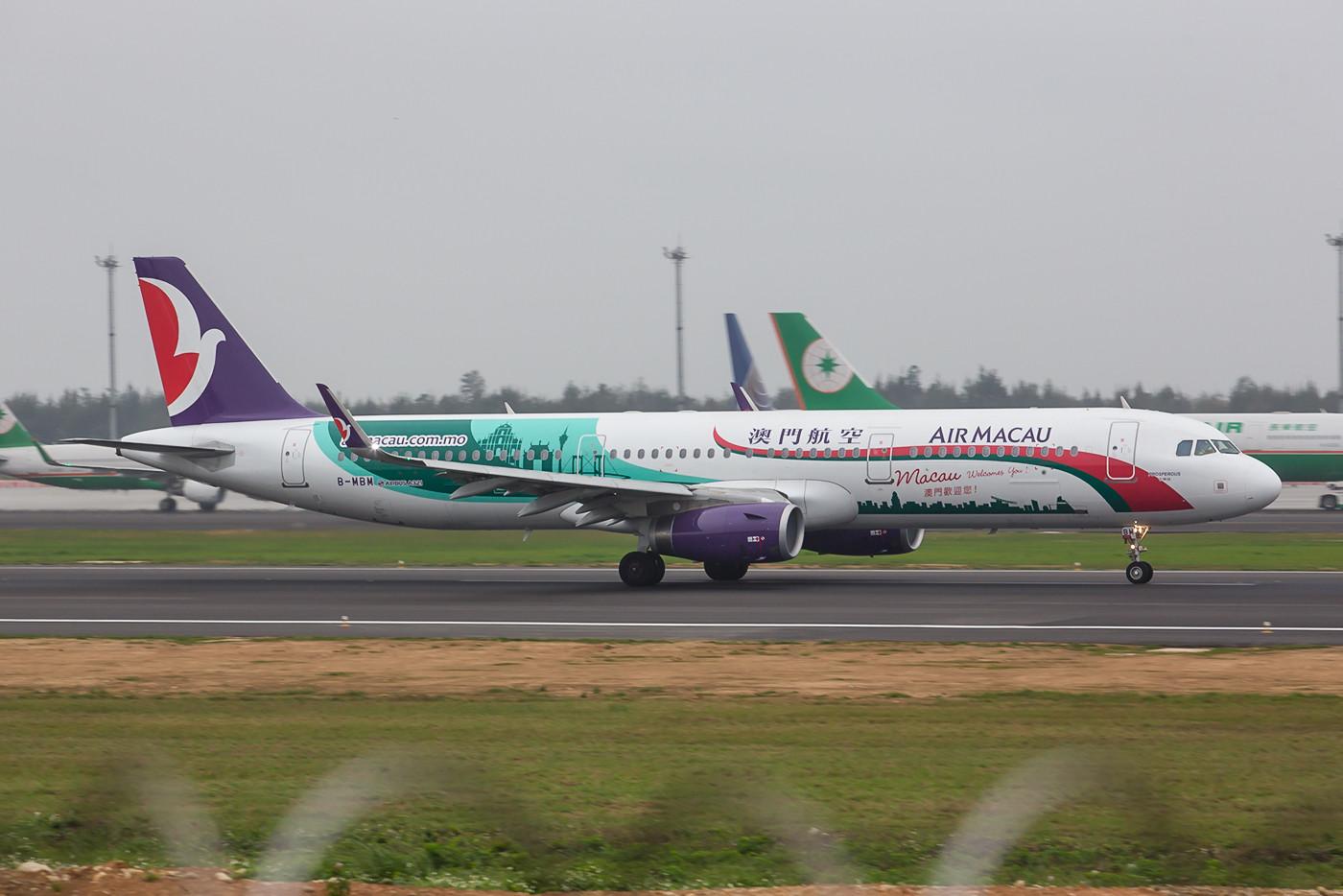 Dieser A321 macht Werbung für seine Heimat Macau.