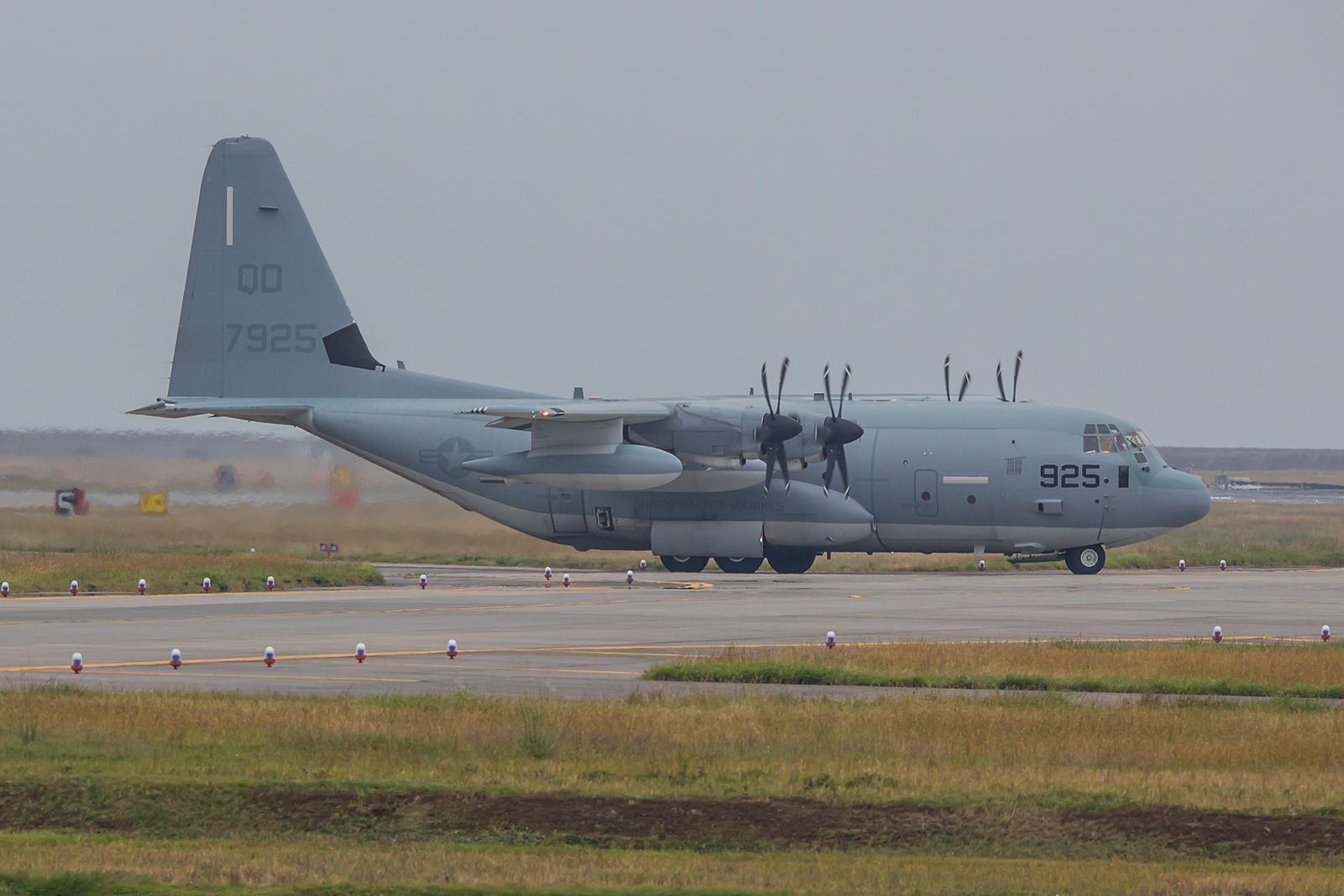 Die KC-130J des USMC wurden von Futenma nachIwakuni verlegt.