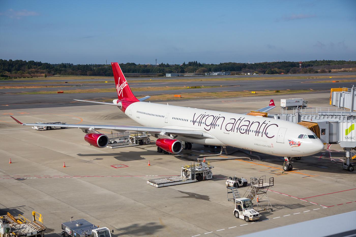 Mein erster A 340 der Virgin Atlantic in neuen Farben.