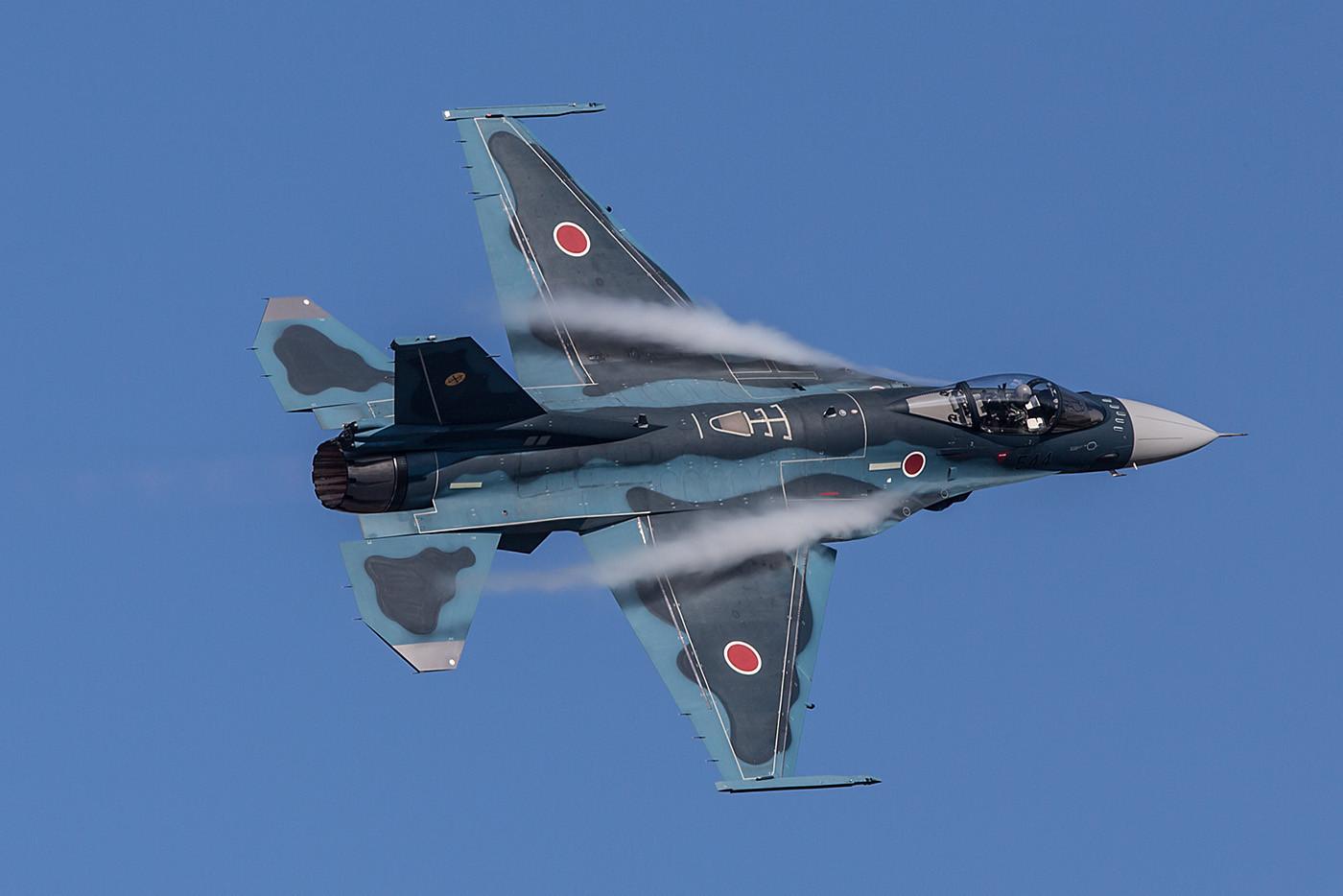 Eine F-2A aus Tsuiki präsentierte das Solodisplay.