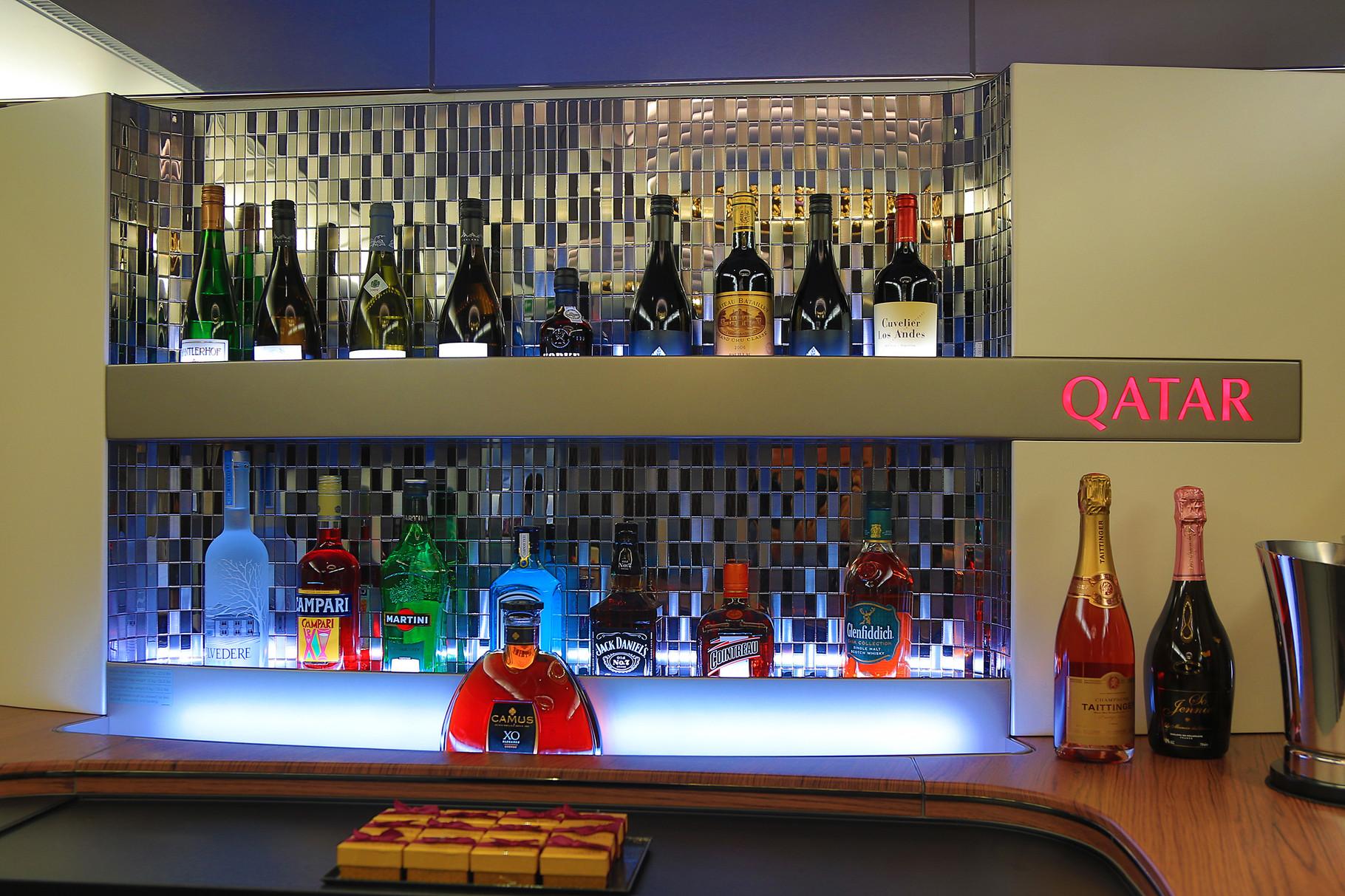 Die Bar im Oberdeck der A 380.