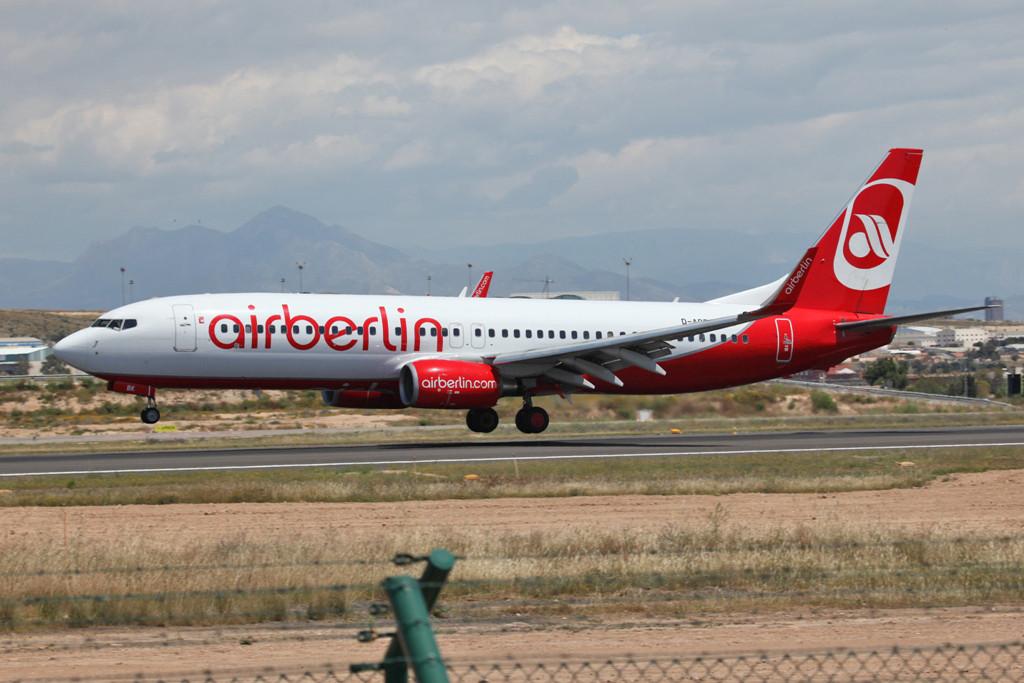 Die Air Berlin ist in Spanien sehr verbreitet.