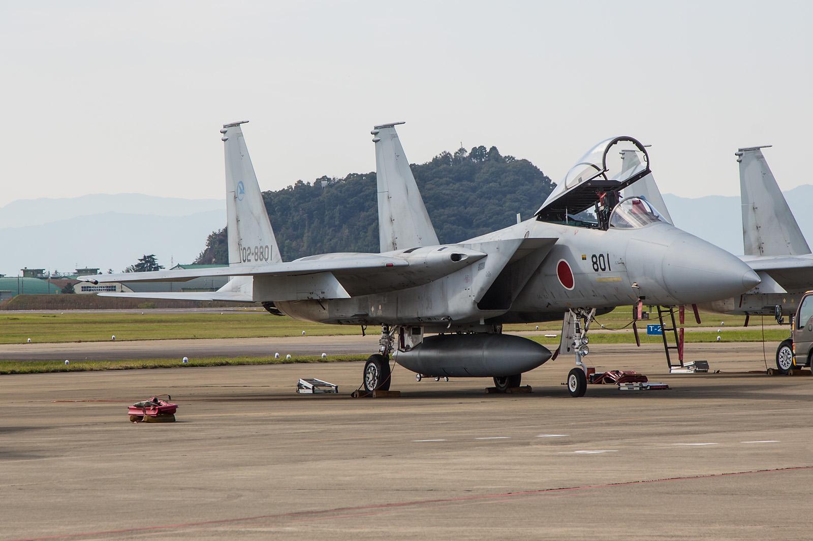 Die 02-8801 war die erste F-15J Eagle der JASDF und wurde noch bei McDonnell Douglas gebaut.
