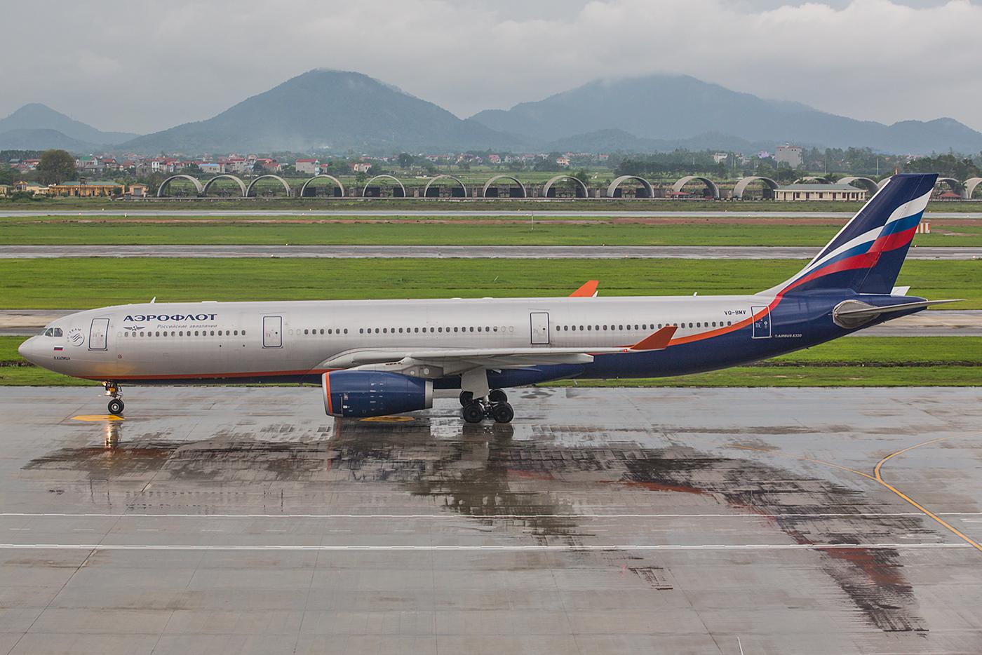 Auch nach Hanoi fliegt die Aeroflot.
