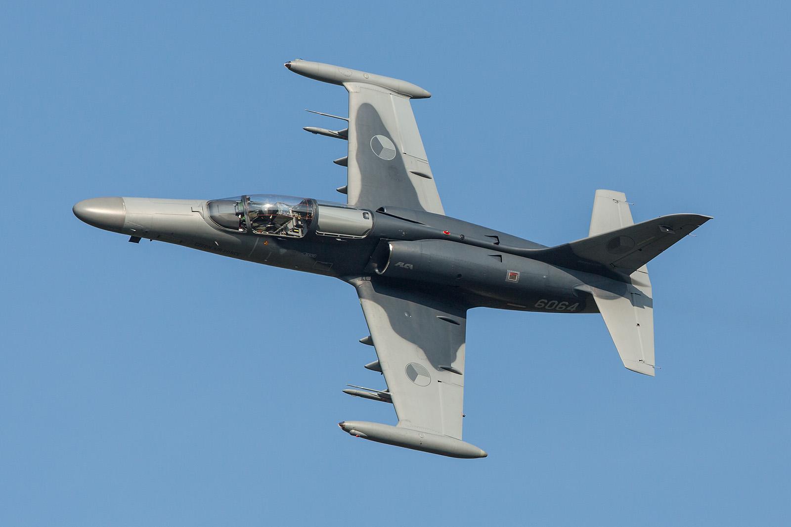 Zwei Aero L-159ALCA zeigten im Display den Angriff auf Bodenziele.