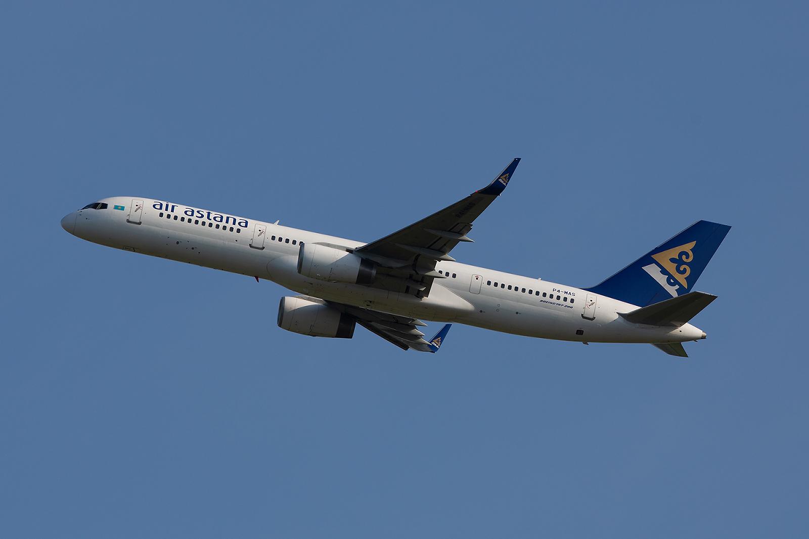 Boeing 757-200 der Ais Astana aus Kasachstan.